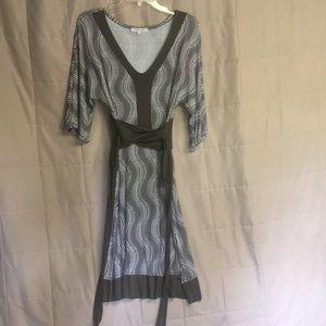 2 for $10 Stretchy tie waist jersey fabric dress